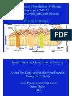 Identification of Bacteria; Microscopy to MALDI