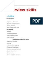 Interviews Skills