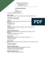 Scdl Organizational Behaviour Paper - 1
