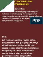 Food Additives Dan Kontaminan