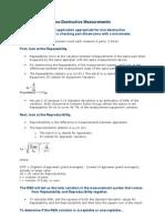 R&R Analysis for Non-Destructive Measurements