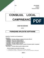 Caiet de Sarcini Achizitie Aplicatie Software