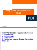 N I Act 1881