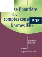 Analyse financi_ذre des comptes consolid_رs Normes IFRS