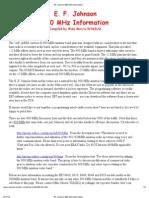 EF Johnson 900 MHz Information