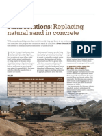 Replacement of Sand in Concrete