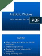 Antibiotic Choices