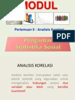 Pertemuan-11 Dan 12 Analisis Korelasi