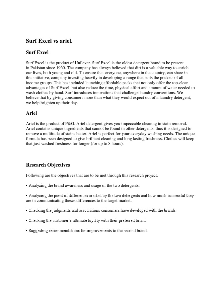 Ariel   Survey Methodology   Questionnaire
