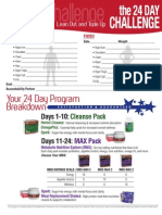 photograph about 24 Day Challenge Printable Guide called Advocare 24 Working day Difficulty Pricing