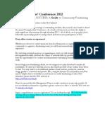 Sponsorship Guide 2012