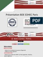 Présentation BDE EDHEC PARIS