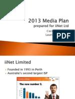 2013 Media Plan