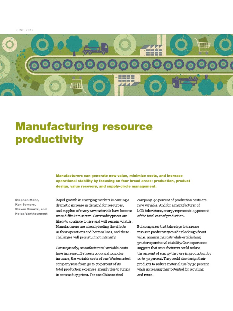 Manufacturing Resource Productivity | Reuse | Recycling