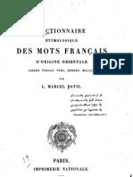 Dictionnaire étymologique des mots d'origine orientale