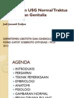 FK UNS OBGIN USG 1j. Pemeriksaan USG Normal Traktus Urinarius dan Genitalia, JJE 20120513