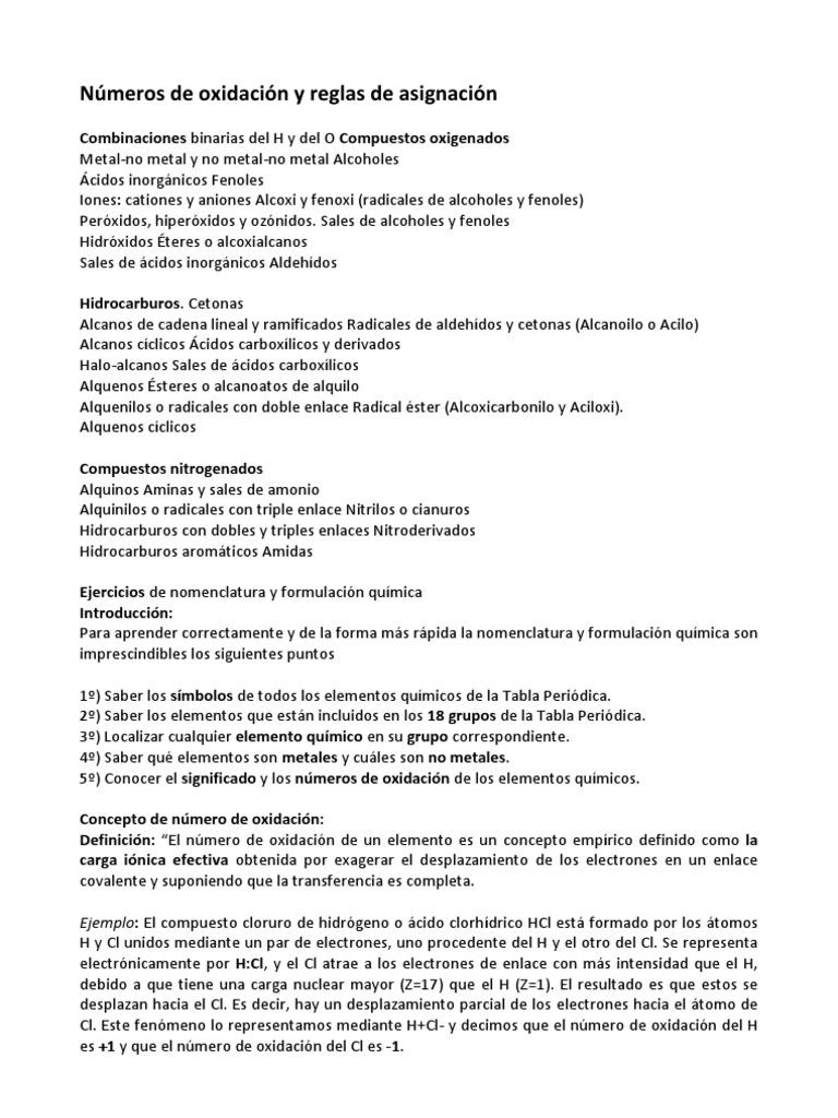 numeros de oxidacion - Tabla Periodica De Los Elementos Quimicos Metales Y No Metales