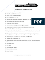 Articulation and Voice Exercises