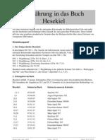 Einfuehrung in Das Buch Des Propheten Hesekiel 200411