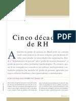 HISTÓRIA DO RH NO BRASIL