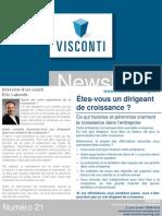Visconti - Newsletter Mai - Juin 2012 - Etes-Vous Un Dirigeant de Croissance