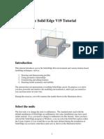 Basic Solid Edge V19 Tutorial
