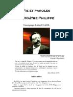 Haehl Alfred - Vie et paroles du Maître Philippe