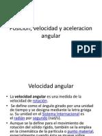 Posicion, Velocidad y Aceleracion Angular