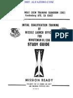 1983 ICBM Launch Officer Training Manual for Minuteman III CDB  (21M-LGM-30G)