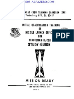1983 ICBM Launch Officer Training Manual for Minuteman III CDB  (21M-LGM-30G)