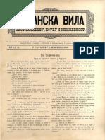 Bosanska vila [godina 1, broj 21; 1.11.1886]