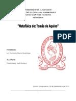 LA METAFISICA DE (EN) SANTO TOMÁS DE AQUINO