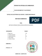 informe métodos