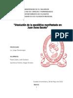 REPORTE DE JUAN DUNS ESCOTO