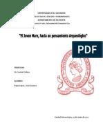 EL JOVEN MARX, HACIA UN PENSAMIENTO ARQUEOLÓGICO