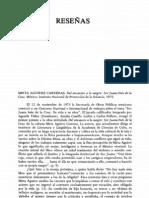 Reseña de Raquel Chang Rdguez a Del encausto a... de Mirta Aguirre en Revista Iberoamericana