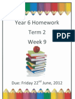 Year 6 Homework - Term 2 Week 9