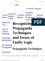 Recognizing Propaganda--Guide to Critical Thinking--Academic Support