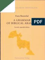 Aramic Grammar by Franz Rosenthal