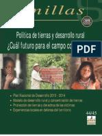 Política de Tierras y Desarrollo Rural ¿cual futuro para el campo colombiano?