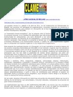 DECLARACIÓN DEL II ENCUENTRO NACIONAL DE RECLAME