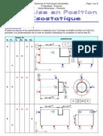 Exercices Sur La Mise en Position Isostatique - Prof