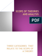 Scope of Theories and Analysis
