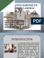PSICOLOGÍA FORENSE EN EL ÁMBITO LABORAL