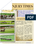 New Online Newsletter Now Available! NY Injury Times-June 2012- Belmont Stakes Edition
