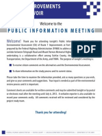 FHWA Public Meeting Boards June 5, 2012 U.S. Widening Meeting