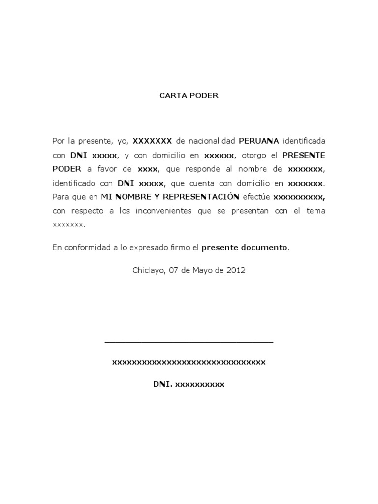 Formato de Carta