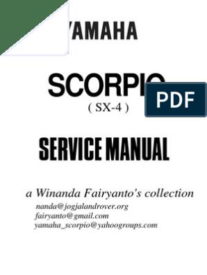 Service Manual Yamaha Scorpio 225 | Sekrup | Rem
