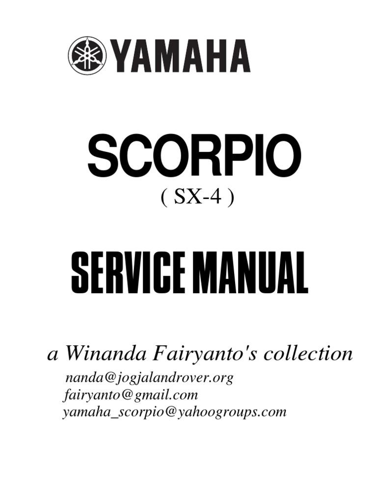 Service manual yamaha scorpio 225 screw brake asfbconference2016 Image collections