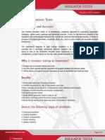 Positron Insulator Tester